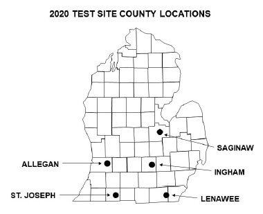 Soybean Test site information
